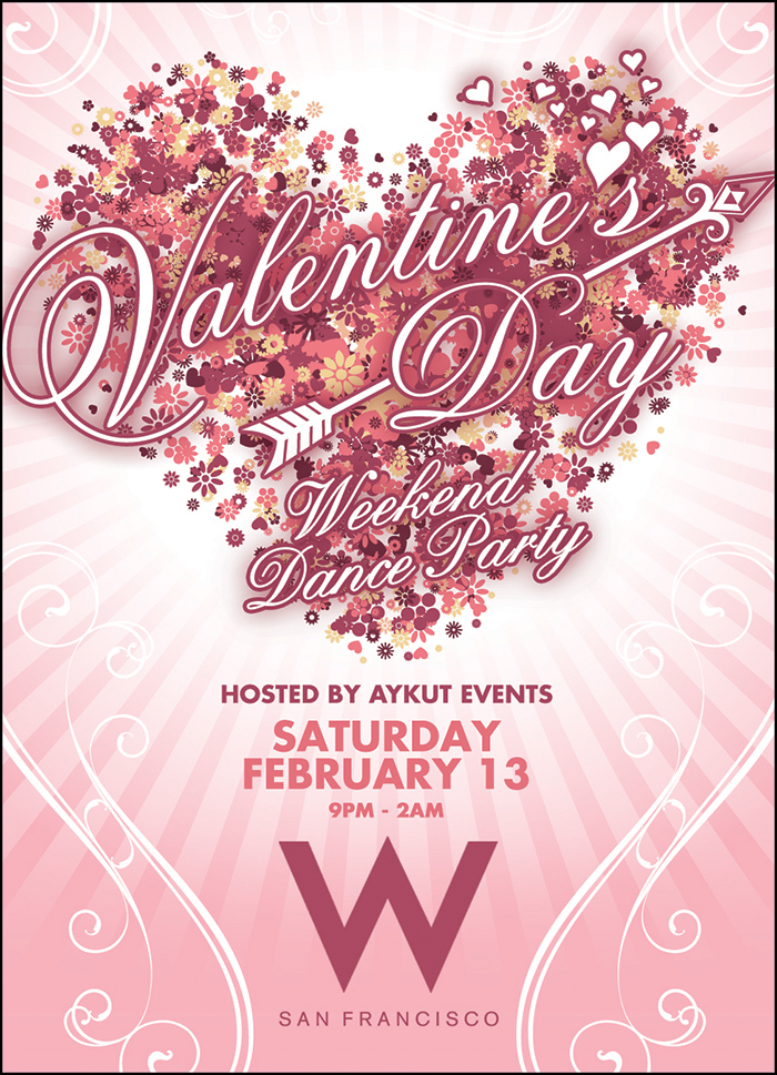 best valentines day party in san francisco 2015 w hotel aykut events