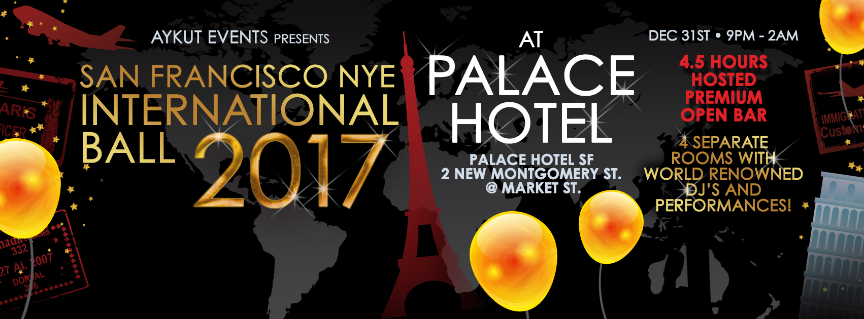 Palace Hotel San Francisco New Years Eve Party